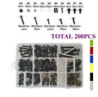 200x Fairing Body Bolts Kit Screws Clips For HONDA CRF150R 2007-2019  CRF150R