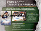 2019 Topps Tribute Baseball Sealed Hobby Box Presell 7 24 19 Release Date
