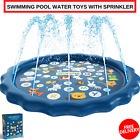 Inflatable Outdoor Swimming Pool Water Toys With Sprinkler For Learning A To Z
