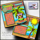 BEACH girl 2 premade scrapbook pages paper vacation travel ocean CHERRY 0064