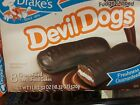 LOT OF 4  DRAKES FUDGE DIPPED DEVIL DOGS 8 CREME FILLED DEVIL FOOD CAKES YUMMY!