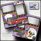 DISNEY CHEF MICKEYS 2 premade scrapbook pages paper piecing BY CHERRY 0072