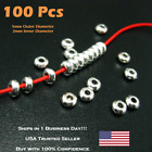 100 PCS 5mm Stainless Steel Silver Round Spacer Beads DIY Custom Jewelry Making