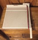 BOSTON 2612 PAPER CUTTER TRIMMER 12 WOOD BASE WORKS GREAT
