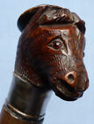 FINELY CARVED LATE 19TH CENTURY GERMAN BLACK FOREST WALKING STICK DONKEY