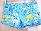 Lilly Pulitzer Adie Shorts Sz 6 S Blue Daisy Dance Floral Scallop Side Party 4