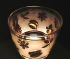 LIBBEY GOLD LEAVES MID CENTURY MODERN ICE BUCKET ~ VGUC