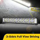 18inch Quad Row Side Shooter LED Work Light Bar Spot Flood Driving Off Road 20