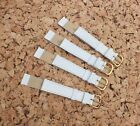 Leather Ladies Camel Grain watch Straps 16mm White x 4  by Fortis