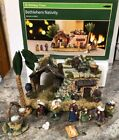 New Rare 11pc Bethlehem Nativity Set Stable House King Mary Jesus Holiday Time