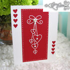 Craft Metal Cutting Dies Love Heart Bow Tie Scrapbooking Album DIY Paper Card