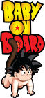 Baby on Board Dragonball Goku 2 Decals Stickers You Choose Size FREE SHIPPING