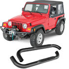 3 Black Side Step Rail Nerf Bar Running Board for 1987 2006 Jeep Wrangler YJ TJ