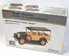 Scale Model 1928 Ford Station Wagon Metal Car Model, New in Box, See Description
