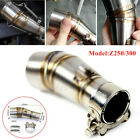 Motorcycle Exhaust Middle Pipe Link Muffler Mid Section Adapter Z250 300 w Parts