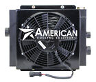 MOBILE HYDRAULIC OIL COOLER DC12V 12 W 12V FAN  SHROUD WITH OR WITHOUT BYPASS