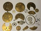 MIXED LOT ANTIQUE POCKET WATCH PARTS FOR PARTS, RESTORATION, REPAIR OR STEAMPUNK