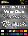 Custom Text Vinyl Lettering Window Decal Personalized Sticker Car Truck Business