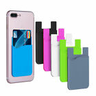 Phone Stick On Wallet Credit ID Card Holder Silicone Adhesive For iPhone us Y4Z7