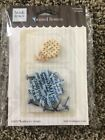 5 SETS HEIDI GRACE PRINTED FLOWERS and BRADS 2 sizes NEW