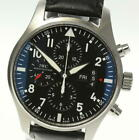 IWC Pilot Watch IW377701 Chronograph Automatic Day-Date Leather Men's_454432