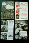 Lot 4 Texaco Gasoline series Magazine ads 1935 Natl Geo 84 years old! +Pennzoil