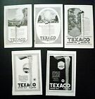 Lot 5 Texaco Gasoline series Magazine ads 1925 Natl Geo 94 years old!