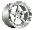 Aodhan DS05 18x105 +15 5x1143 Silver Wheels FITS ACURA TL RSX TSX TRACK CAR
