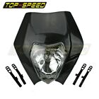 Black Motorcycle Headlights Fairing For Yamaha TT-R WR XT YZ 125 250 Honda KTM