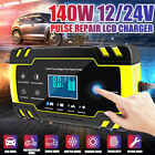 1224v 2-150ah Car Atv Motorcycle Pulse Repair Lcd Battery Charger Agm Automatic