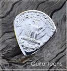 US QUARTER Coin Guitar Pick silver eagle emblem plectrum kurt cobain z7qq