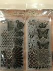 Tim Holtz Clear Acrylic Stamp  Stencil Set NEW YOU PICK