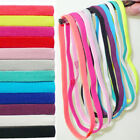Girls Women Men Elastic Yoga Headband Sport Rubber Sweatband Thin Hair Bands Hot