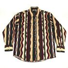 Wrangler Western Shirt Pearl Snaps Aztec Native Mens Large