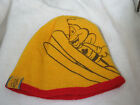 Cheerios Bee  REVERSIBLE Canada Maple Leaf Olympic Red Yellow Beanie Hat O/S EUC