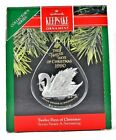 RARE 1990 NEW TWELVE DAYS OF CHRISTMAS SEVEN SWANS A SWIMMING ACRYLIC ORNAMENT