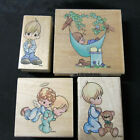 Precious Moments Wood Mounted Rubber Stamps Four by StampendousLittle Boy