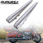 4 Chrome Megaphone Slip On Mufflers Exhaust Pipes 1995 2016 Harley Touring