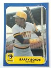 1986 Fleer Barry Bonds rookie card U-14 RC