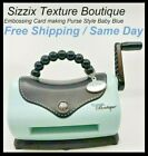 Sizzix Texture Boutique Embossing Card making machine Purse Style free shipping