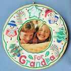 Hallmark For Grandpa - Photo Holder Keepsake Ornament Original Box NOS
