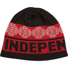 Independent Woven Crosses BEANIE-Black/Red/White