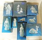 Vintage Avon Nativity White Porcelain Collectibles Figurines w Boxes 11
