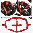 Red High strength polyester Rear Wheel Handlebar Transport Bar Tie Down Strap