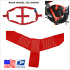 1Pcs Red Motorcycle Rear Wheel Handlebar Transport Bar Tie Down Strap USA Stock