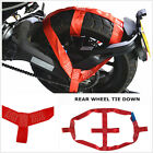 1pc x Red Rear Wheel Strap Folded and stored For Motorcycle Lacing Tie Fasten