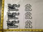 6 pc New York Yankees MBL Fabric Applique Iron On Ons Set 1