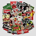 100 Supreme Sticker Box LOGO Mixed Skateboard Vinyl Sticker Laptop Luggage