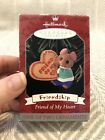 1998 Hallmark Friend of My Heart Mouse Cookie Friendship Christmas Ornament NIB