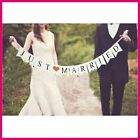 JUST MARRIED Wedding Banner Party Decorations Bunting P Photo Z6S1 Booth Ga I3U7